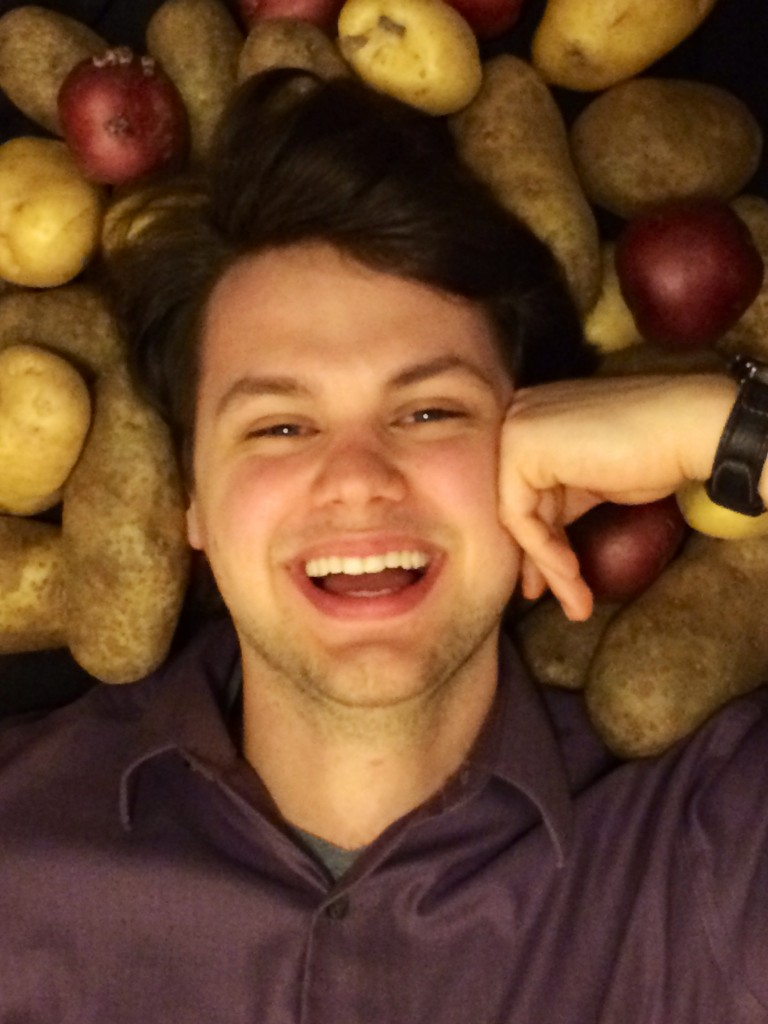 Cody with potatoes by Lauren Currie