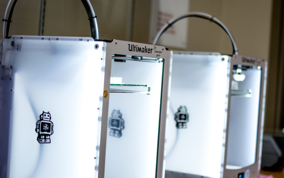Creating opportunities with 3-D printing: Three-dimensional printers at CSB/SJU provide students the opportunity to explore advancing technology and turn their 2-D designs into 3-D realities