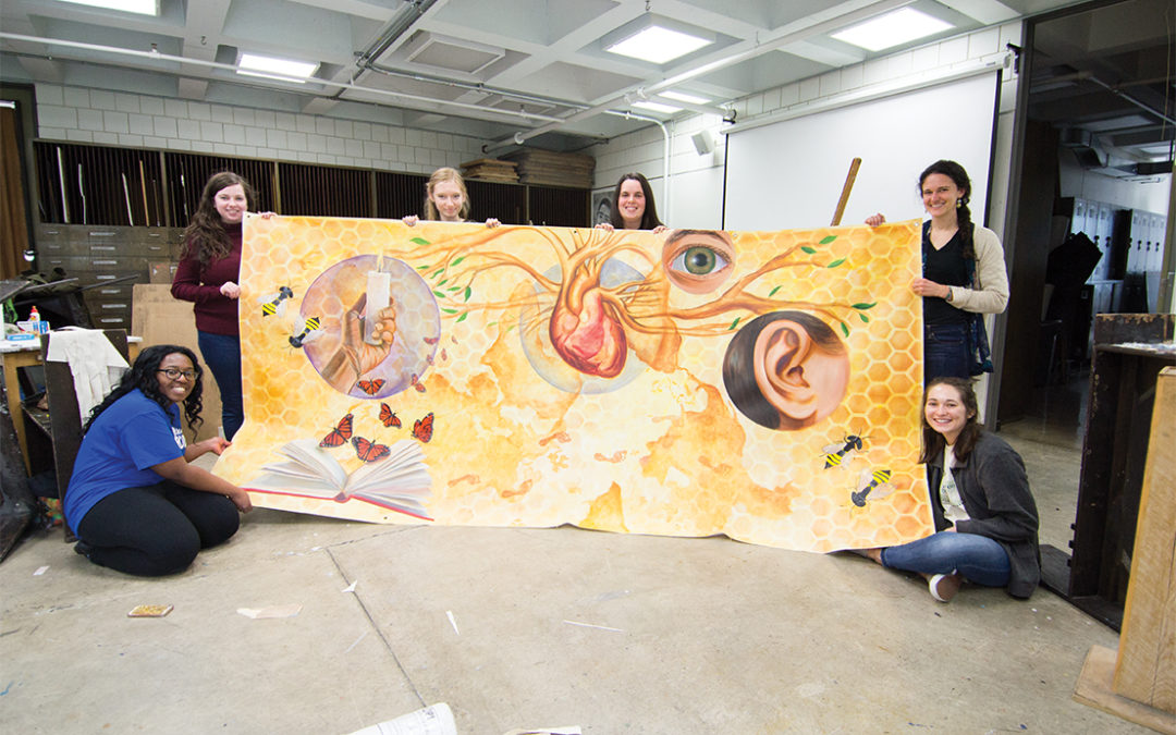 Students create mural for Link bus