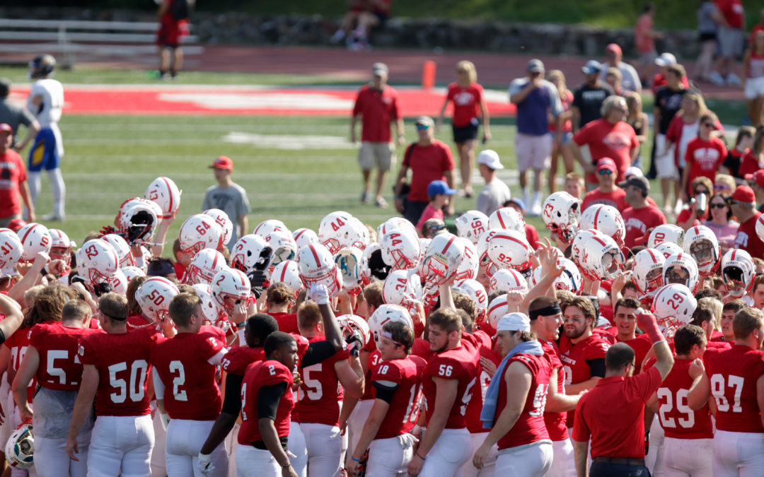 SJU football preps for UST